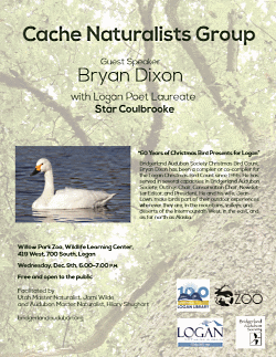 Cache Naturalists Group: Bryan Dixon, 60 Years of the Logan, UT Christmas Bird Count