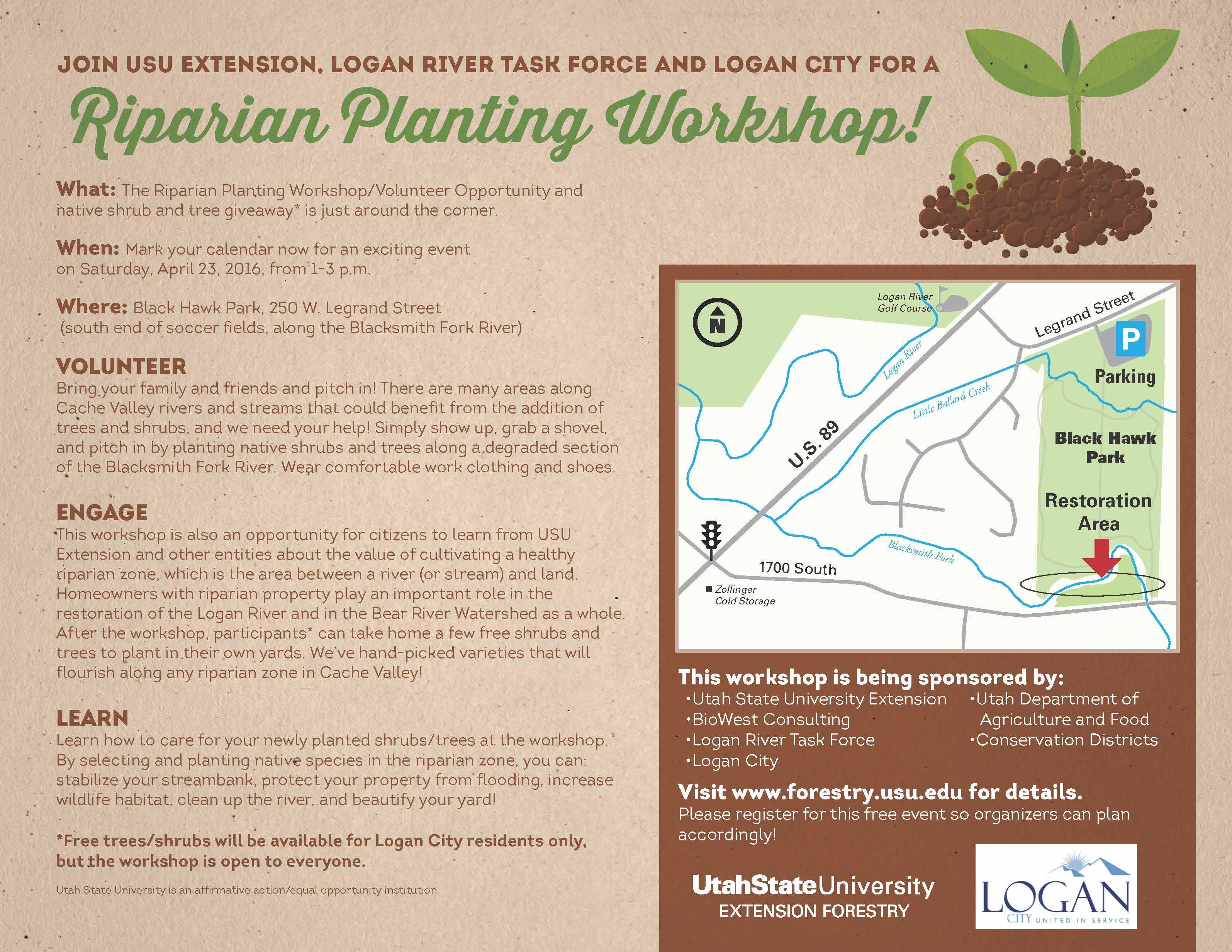 Riparian Planting Workshop, 23 Apr 2016