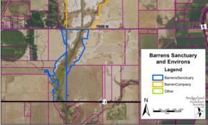 Amalga Barrens Sanctuary Property and Surroundings Map - Configured by Bryan Dixon
