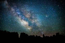 Dark Skies: Milky Way above Chesler Park Canyonlands National Park Courtesy US National Park Service Emily Ogden, Photographer