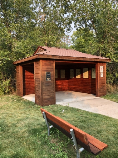Click to Visit: Kiosk riverside after staining
